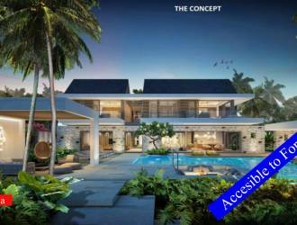 Luxurious 5 bedrooms PDS Villas Project in a beachfront Complex for sale in Belle Mare Mauritius managed by a 5 star hotel
