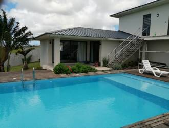Villa foor sale at Mont piton in a gated community with swimming pool.